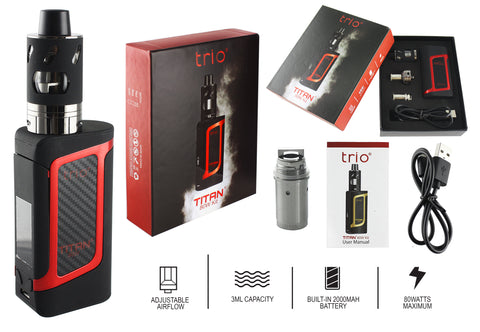Trio Vapes - Titan 80W Kit - Red
