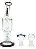 WEEDO Multi Perc double chamber Dab Rig Black 20cm (free stickers)