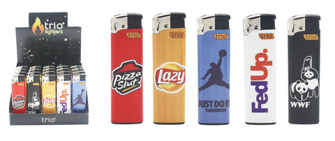 Mock Brand Normal Flame Lighter x5