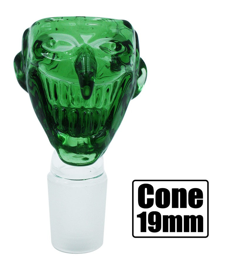 Stone Age Joker Cone Piece - Green 19mm - BongsMart