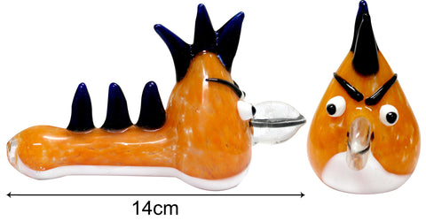 3G Angry Bird Pipe - Orange (14cm) - BongsMart