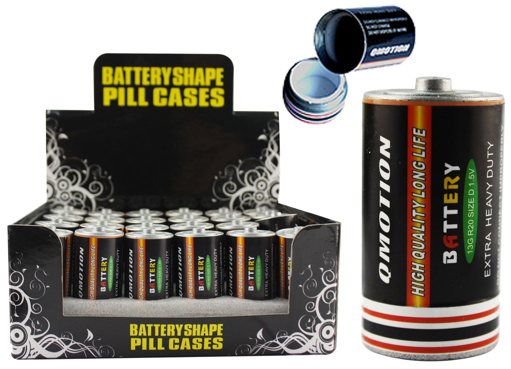 """C"" Battery Pill Storage - BongsMart"