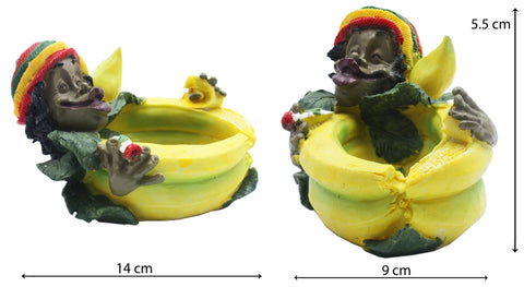 Rasta Poly Resin Ashtray 1/36 (CIG239) - BongsMart