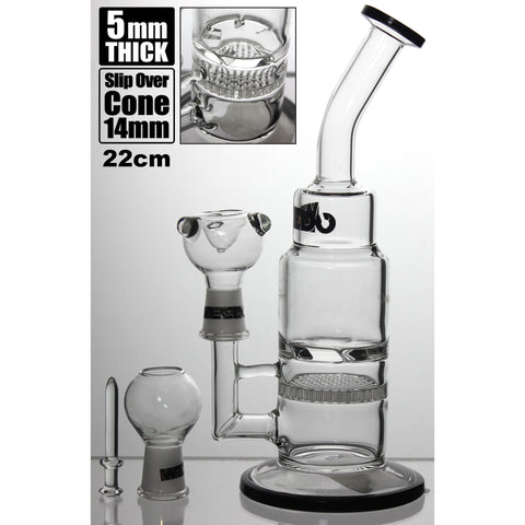 WEEDO Gold Label 22cm waterpipe with circular perc