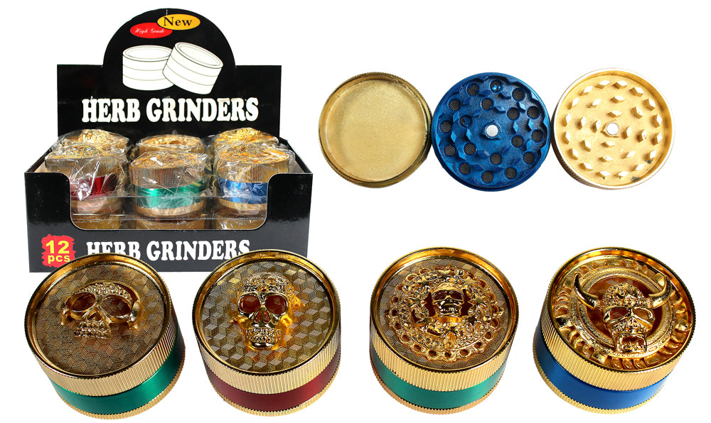 Assorted Skull Metal Grinders