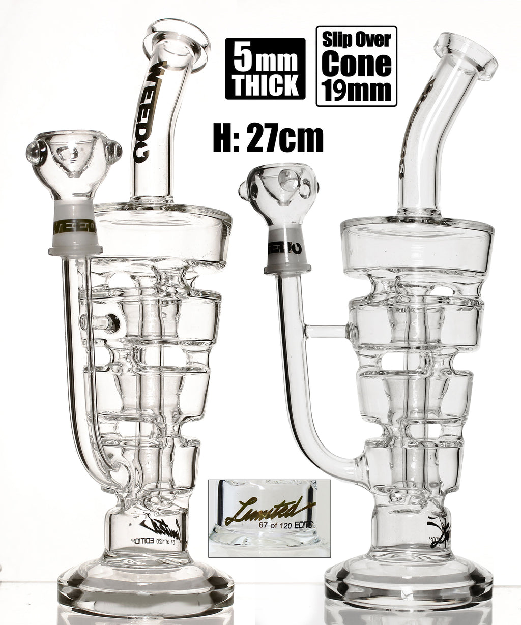 *SUPER SPECIAL* Weedo Sundae Stack Clear Perc Bong Limited Edition (free stickers)