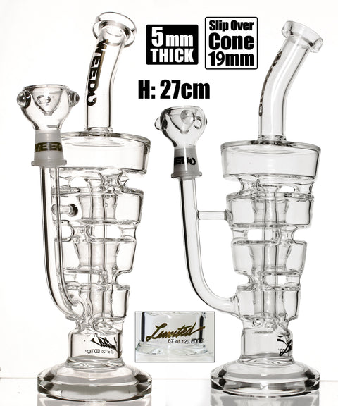 Weedo Sundae Stack Clear Perc Bong Limited Edition (free stickers)