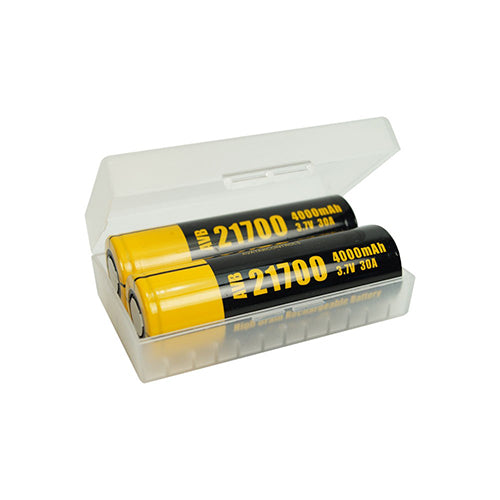 Dual 18650, 20700, 21700 Battery Case