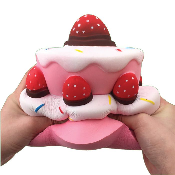 Squish-Eez Giants single Giant Rasberry Cake Scented Slow Rising Squishy Toy