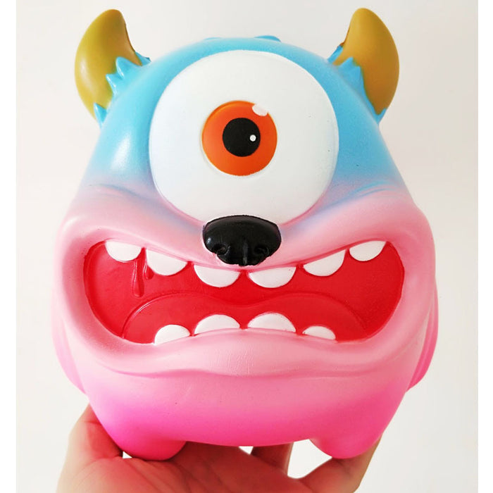 Squish-Eez Giants single Giant Monster Blue/Pink Scented Slow Rising Squishy Toy