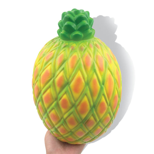 Squish-Eez Giants single Giant Pineapple Yellow/Red Scented Slow Rising Squishy Toy