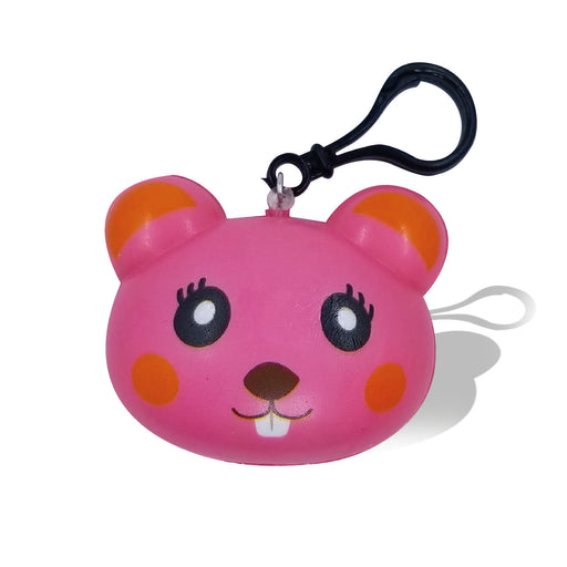 Squish-Eez single Pink Mouse Back Pack Buddy Scented Slow Rising Squishy Toy
