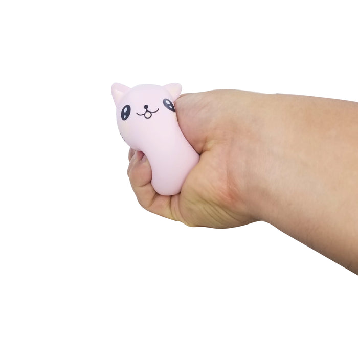 Squish-Eez single pink cat MYK Characters Scented Slow Rising Squishy Toy