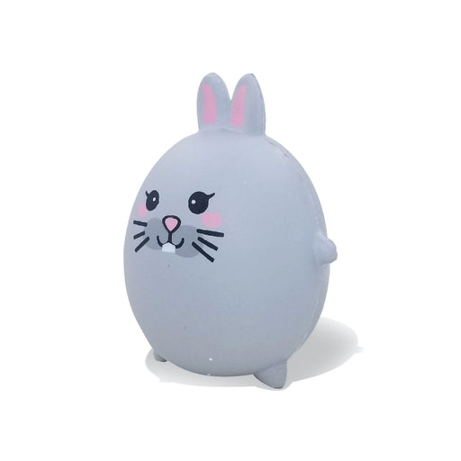 Squish-Eez single Gray bunny MYK Characters Scented Slow Rising Squishy Toy