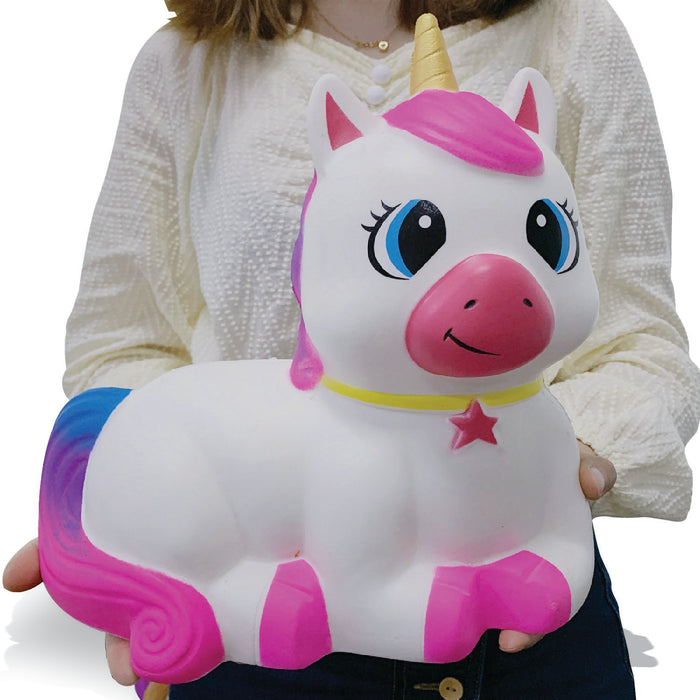Squish-Eez Giants single Giant Unicorn Full Body Pink Scented Slow Rising Squishy Toy