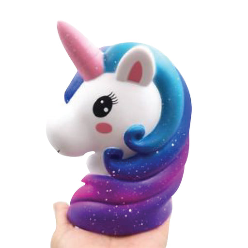 Squish-Eez Giants single Giant Unicorn Mount Blue Scented Slow Rising Squishy Toy
