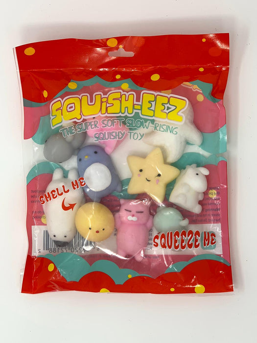 Squish-Eez Mochi pack Mochi 10 pack Scented Slow Rising Squishy Toy