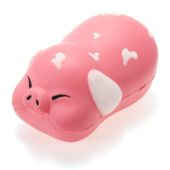 Squish-Eez single Pig Pink/white Scented Slow Rising Squishy Toy