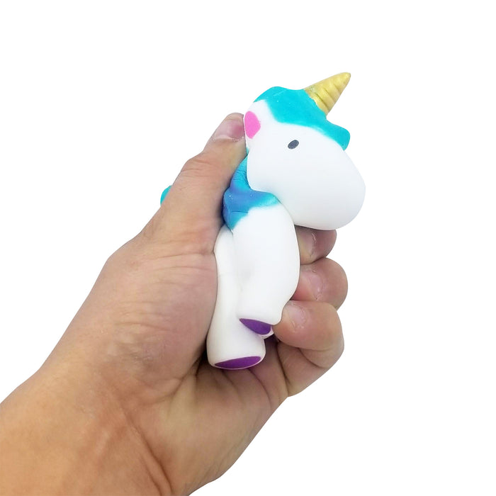 Squish-Eez single Jumbo Unicorn Teal/Blue  Scented Slow Rising Squishy Toy
