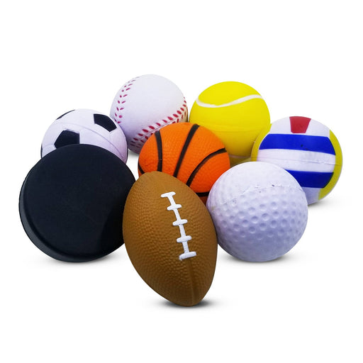 Squish-Eez Small Sports Pack 8 Pack Sports Standard Scented Slow Rising Squishy Toy