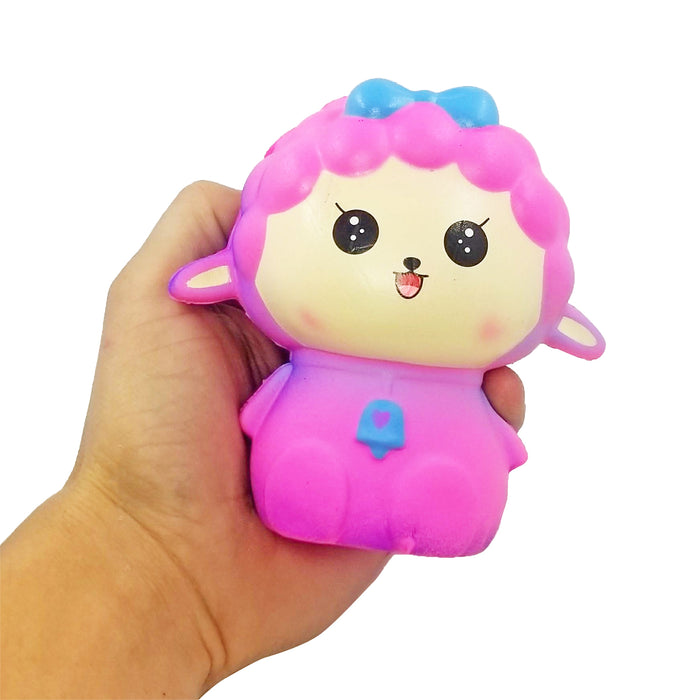 Squish-Eez Jumbo Characters single Colorful Sheep Sitting  Scented Slow Rising Squishy Toy