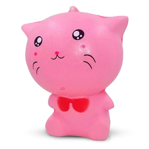 Squish-Eez Jumbo Characters single Smiling Pink Cat Sitting  Scented Slow Rising Squishy Toy