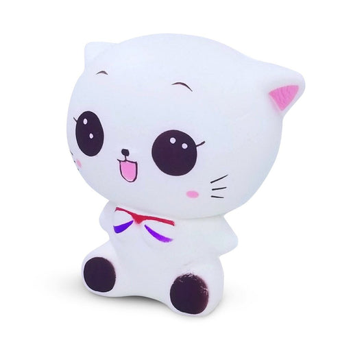 Squish-Eez Jumbo Characters single White Cat Sitting  Scented Slow Rising Squishy Toy