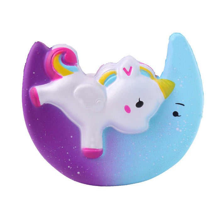 Squish-Eez single unicorn moon  Scented Slow Rising Squishy Toy