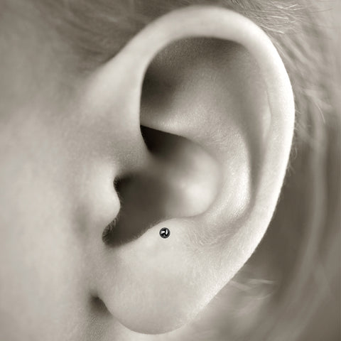Anti-tragus cartilage piercing