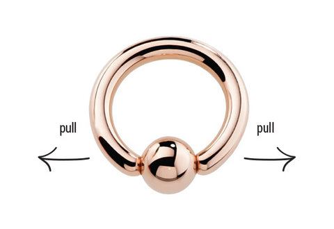 How to open a captive bead ring
