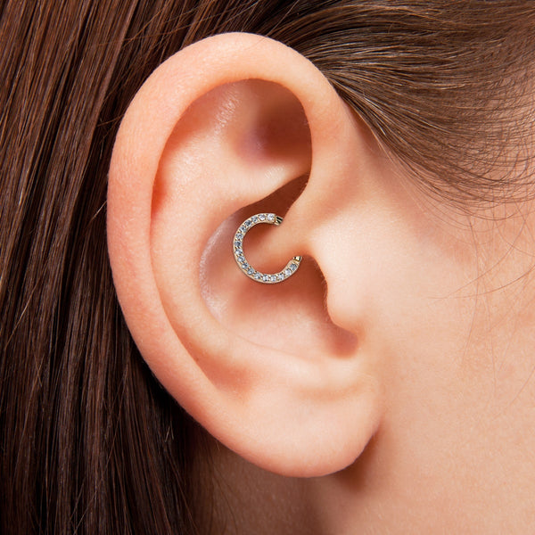 Ear with daith piercing