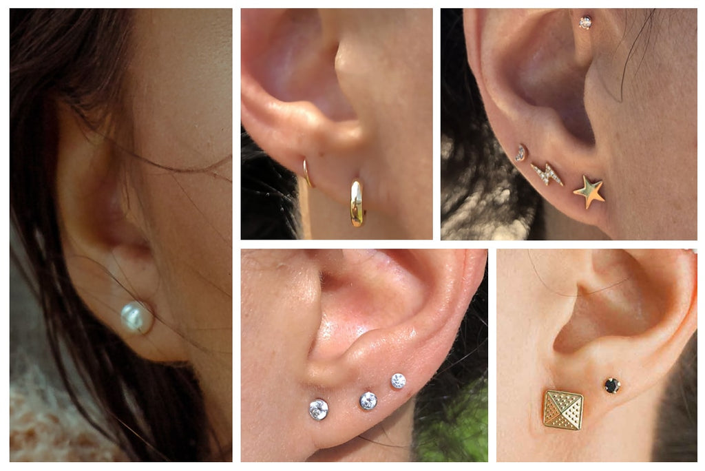Ear lobe piercings