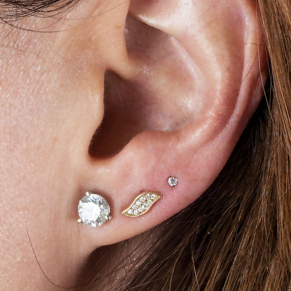 Triple ear lobe piercing