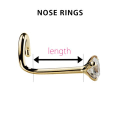 How to measure nose rings