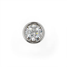1.5mm Tiny Diamond Flush Bezel Nose Ring Stud
