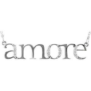 "Diamond ""Amore"" 14K Gold Pendant Necklace"