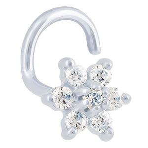 Diamond Flower 14K Gold Nose Ring