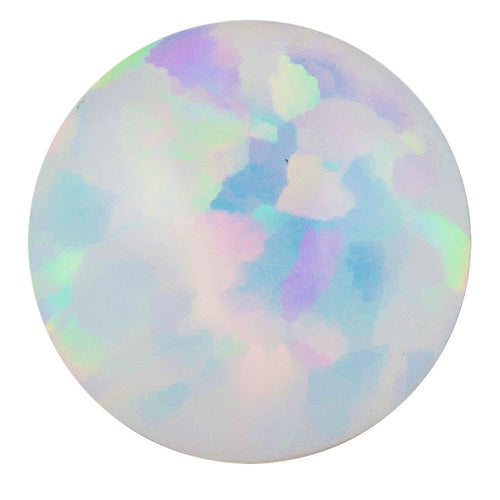 Internally Threaded Opal 14K White Gold Replacement Ball