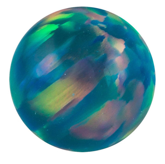 Internally Threaded Opal 14K Yellow Gold Replacement Ball