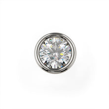 2mm Petite Diamond Flush Bezel Nose Ring Stud