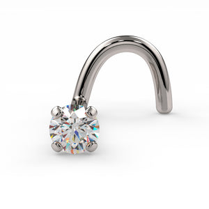 2mm Petite Diamond Prong Nose Ring Stud