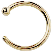 14K Gold Nose Hoop