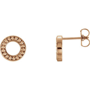 Endless Circle 14K Gold Earrings
