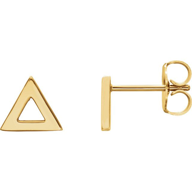 Triangle 14K Gold Earrings