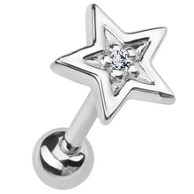 Diamond Star 14k Gold Cartilage Stud Earring