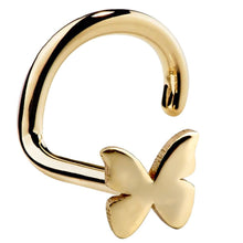 Butterfly 14K Gold Nose Ring