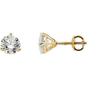 Martini-Set Large Diamond Stud 14K Gold Earrings