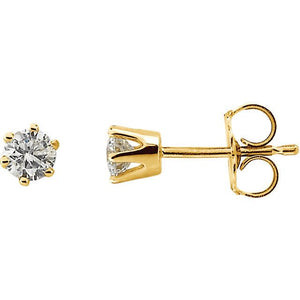Petite Diamond Stud 14K Gold Earrings