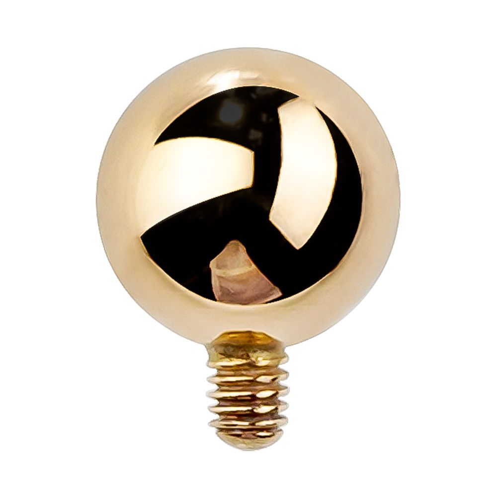 Internally Threaded 14K Gold Replacement Ball