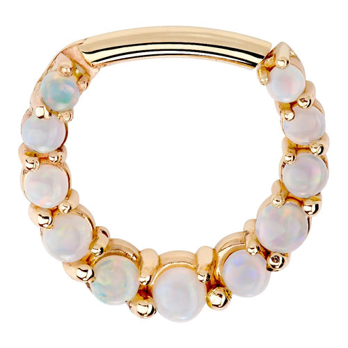 Imperial Opal 14K Gold Clicker Ring - Helix Cartilage Earring
